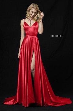 Rochie Sherri Hill 52119 Red