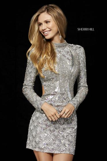 Rochie Sherri Hill 52147 silver