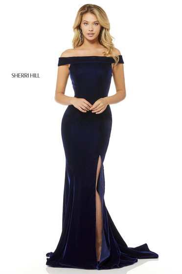 Rochie Sherri Hill 52180 DarkBlue