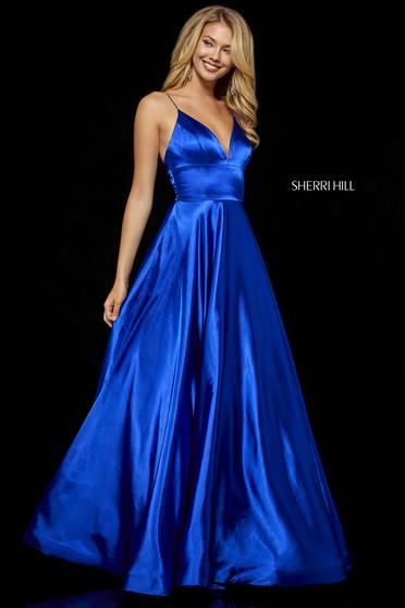Rochie Sherri Hill 52195 Blue