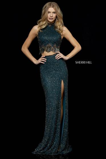 Rochie Sherri Hill 52226 DarkGreen