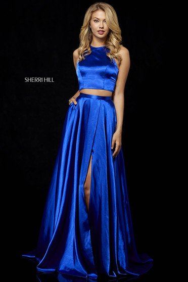 Rochie Sherri Hill 52230 Blue