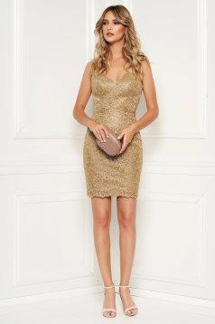 Rochie Sherri Hill 52241 Gold