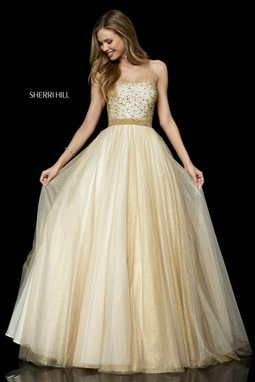 Rochie Sherri Hill 52264 Gold
