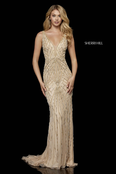 Rochie Sherri Hill 52324 Nude