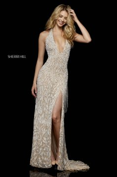 Rochie Sherri Hill 52326 Nude
