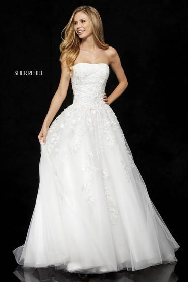 Rochie Sherri Hill 52341 White