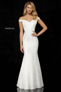 Rochie Sherri Hill 52344 White