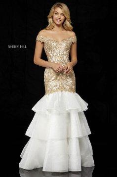 Rochie Sherri Hill 52347 Gold