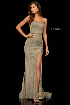 Rochie Sherri Hill 52362 Nude