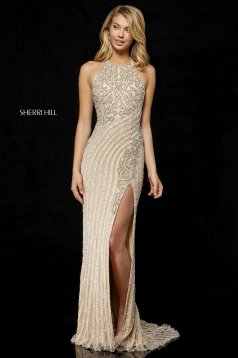 Rochie Sherri Hill 52368 Nude