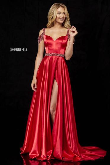 Rochie Sherri Hill 52388 Red