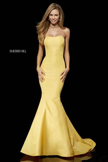 Rochie Sherri Hill 52390 Yellow
