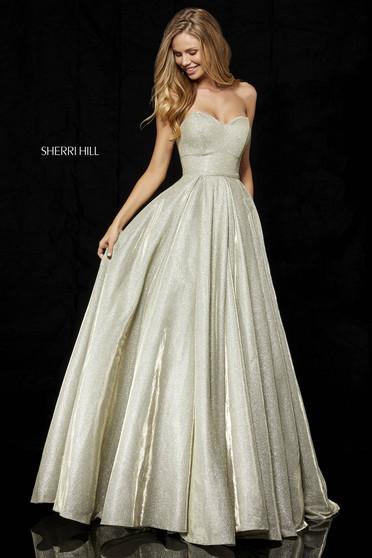 Rochie Sherri Hill 52391 Gold