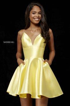 Rochie Sherri Hill 52379 yellow