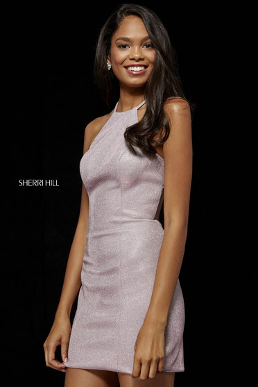 Rochie Sherri Hill de lux roz deschis