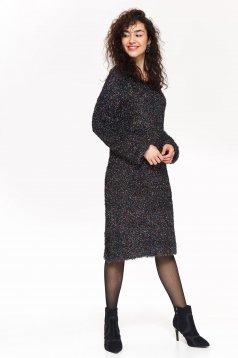 Pulover negru Top Secret casual cu croi larg cu maneci lungi din material tricotat