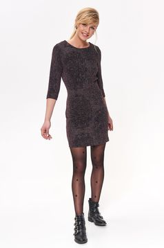 Top Secret black occasional dress with tented cut shimmery metallic fabric