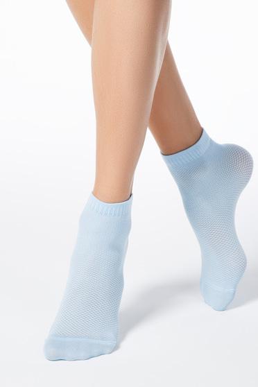 Dresuri & sosete albastri deschis din material elastic tip plasa