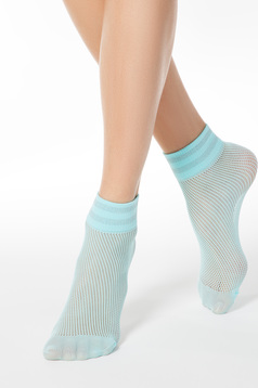Aqua net socks from elastic fabric shimmery metallic fabric