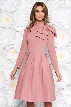 Rosa elegant cloche dress slightly elastic fabric bow accessory