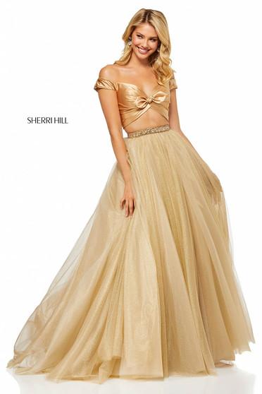 Rochie Sherri Hill 52406 Gold