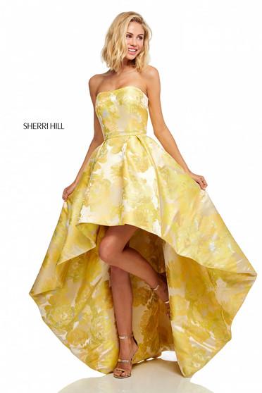 Rochie Sherri Hill 52416 Yellow