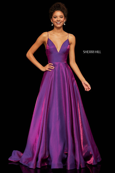 Rochie Sherri Hill 52424 Purple