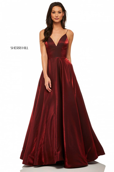 Rochie Sherri Hill 52424 Burgundy
