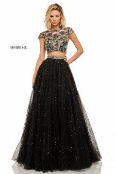 Rochie Sherri Hill 52435 Black