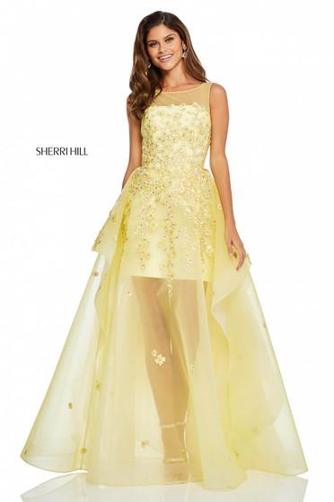 Rochie Sherri Hill 52447 Yellow