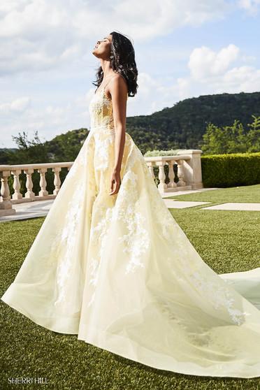 Rochie Sherri Hill 52448 Yellow