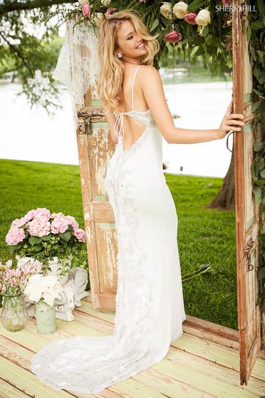 Rochie Sherri Hill 52449 White