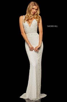 Rochie Sherri Hill 52453 White