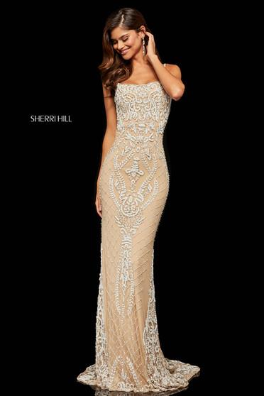 Rochie Sherri Hill 52454 Nude