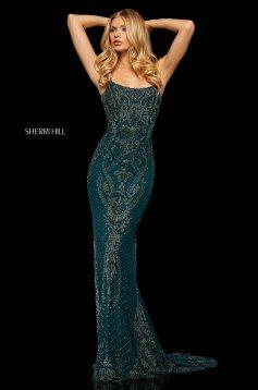 Rochie Sherri Hill 52454 DarkGreen