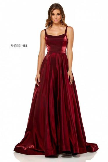 Rochie Sherri Hill 52457 Burgundy