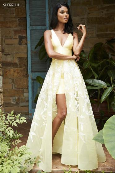 Rochie Sherri Hill 52458 Yellow