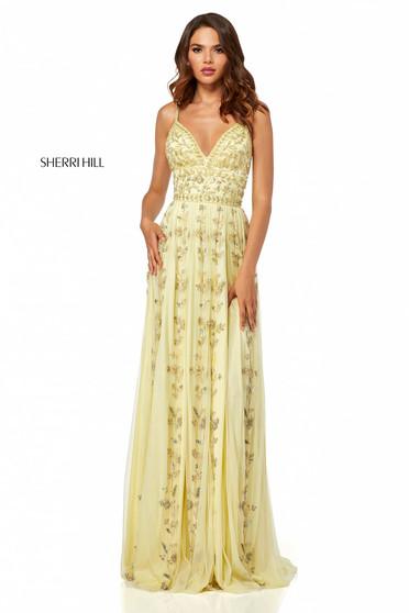 Rochie Sherri Hill 52461 Yellow