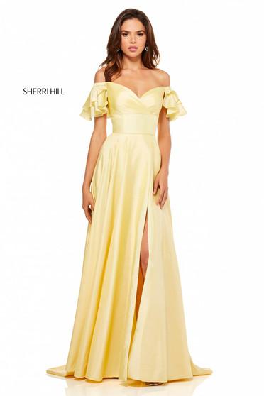 Rochie Sherri Hill 52469 Yellow