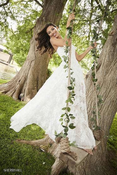 Rochie Sherri Hill 52477 White