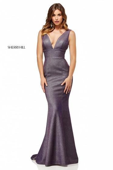 Rochie Sherri Hill 52480 Purple