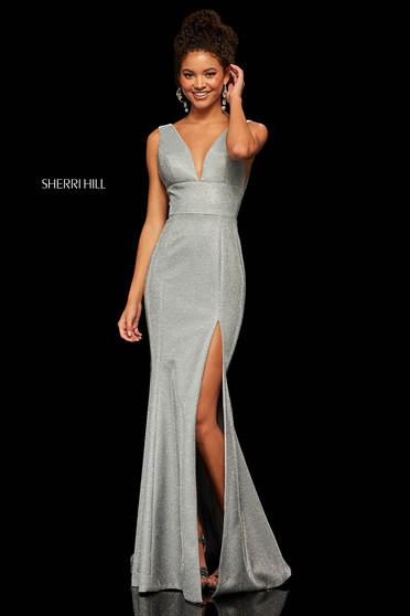 Rochie Sherri Hill 52480 Silver