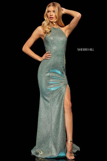 Rochie Sherri Hill 52481 Aqua