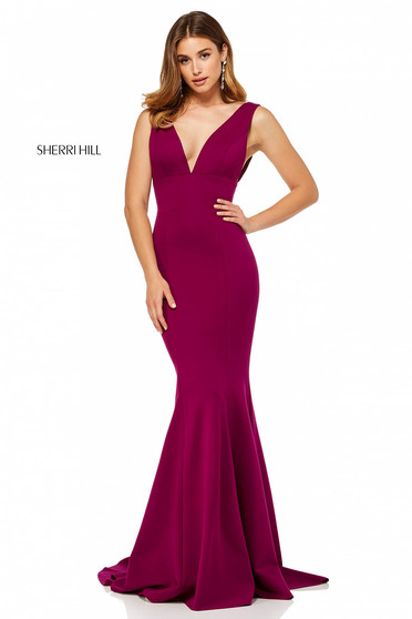 Rochie Sherri Hill 52483 Burgundy