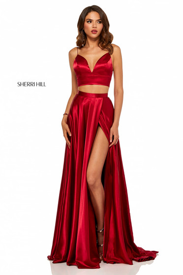 Rochie Sherri Hill 52488 Burgundy
