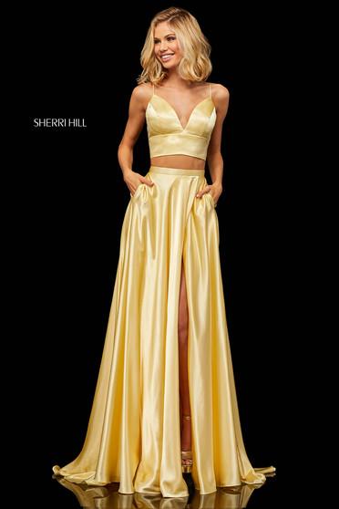 Rochie Sherri Hill 52488 Yellow