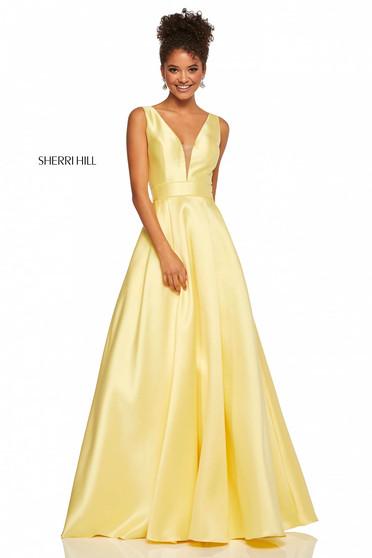 Rochie Sherri Hill 52502 Yellow