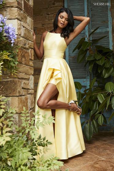 Rochie Sherri Hill 52505 Yellow