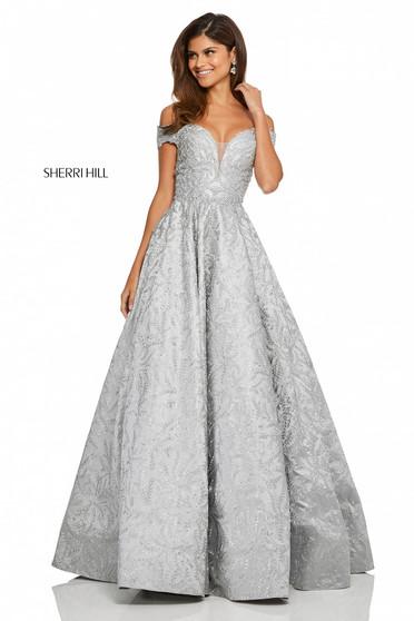 Rochie Sherri Hill 52507 Silver